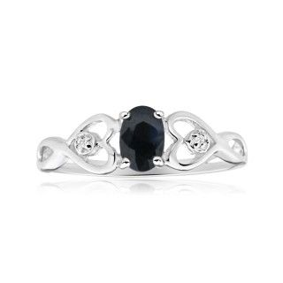 Ring, promise ring, sapphire and diamonds set ring, online jewellery, gold, grahams jewellers
