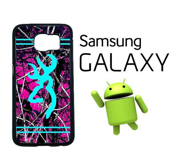 best service 11103 b5486 Edge Samsung Galaxy S6 Hot Pink Camo Light Blue Buck Country Case ...