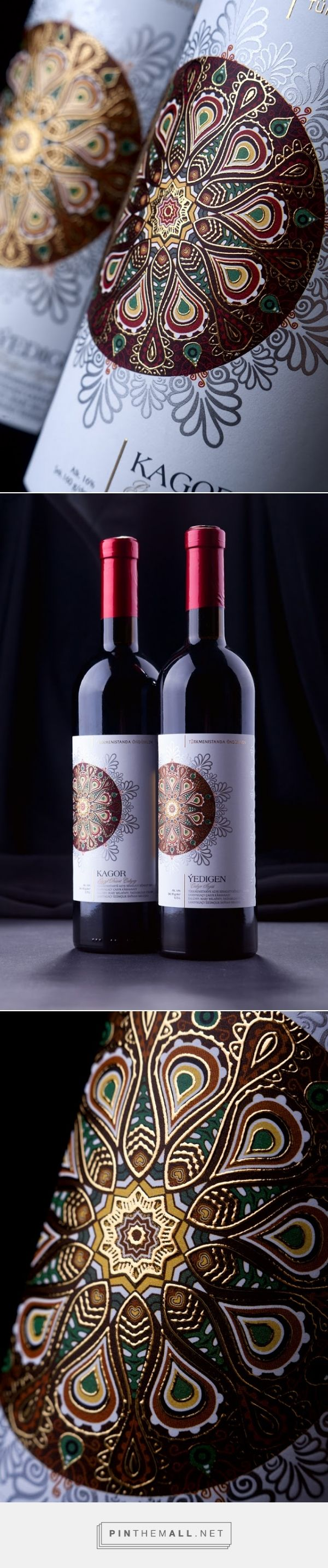 Turkmenistan ‪#‎Wines‬ ‪#‎packaging‬ designed by 43'oz - Design Studio - http://www.packagingoftheworld.com/2015/04/turkmenistan-wines.html