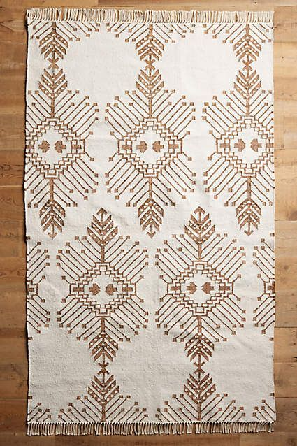 One of our favorite pieces from this list, this chic throw rug has a fall inspired pattern that can be used for chic style all year long. - From The Home Decor Discovery Community of www.DecoandBloom.com