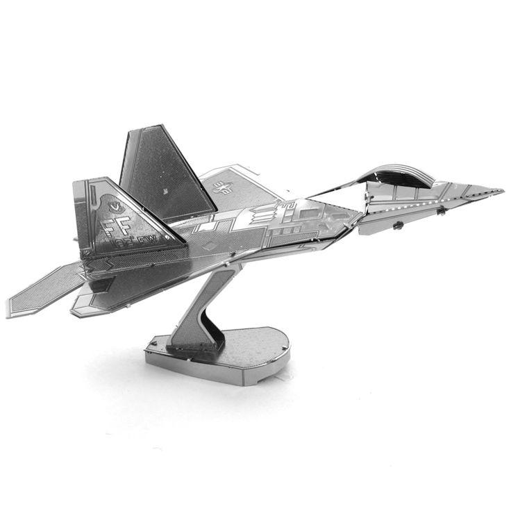 F 22 Raptor Fighter Airplane Fun 3D Metal DIY Miniature Model Kits Puzzle Toys Children Educational Boy Splicing Science Hobby //Price: $19.77 & FREE Shipping //     #Brickweapon #Toysforboys #Legoguns #Guns #Toys #Brickarms #Fun #Brickwarriors #Rifles #Shotguns #Gifts