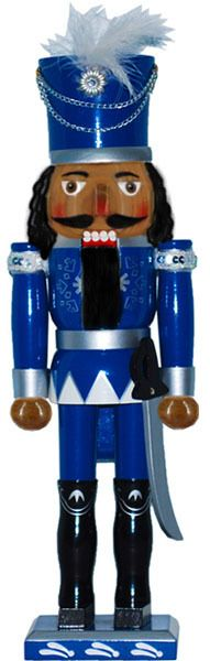 Retail - Nutcracker Ballet Gifts - 15 inch African American Nutcracker with Blue Jacket and White Feather, $15.00 (http://www.nutcrackerballetgifts.com/15-inch-african-american-nutcracker-with-blue-jacket-and-white-feather/)