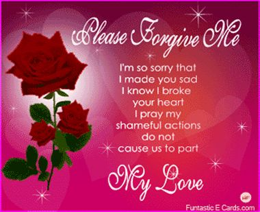 love poems with pretty heart pictures | Red Red rose e cards... poetic message 'I'm sorry that I made you sad ...