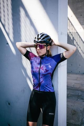 Huez Bia Lycra Performance Top on The Cycling Store