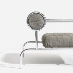 wright20:  Shiro Kuramata pair of Sofa with Arms (single) for the Espirit House