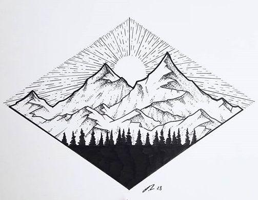 маленькие картинки для распечатки горы
