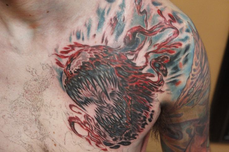 Spiderman Villains Chest Tattoo done by Sean Ambrose at Arrows and ...