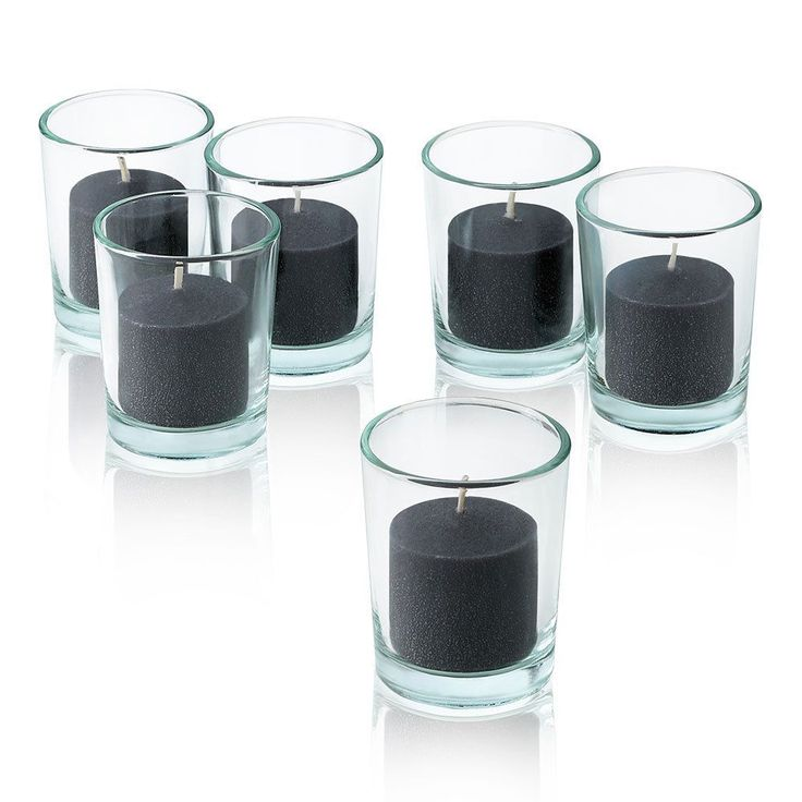 Light Clear Round Votive Candle Holders with votive candles