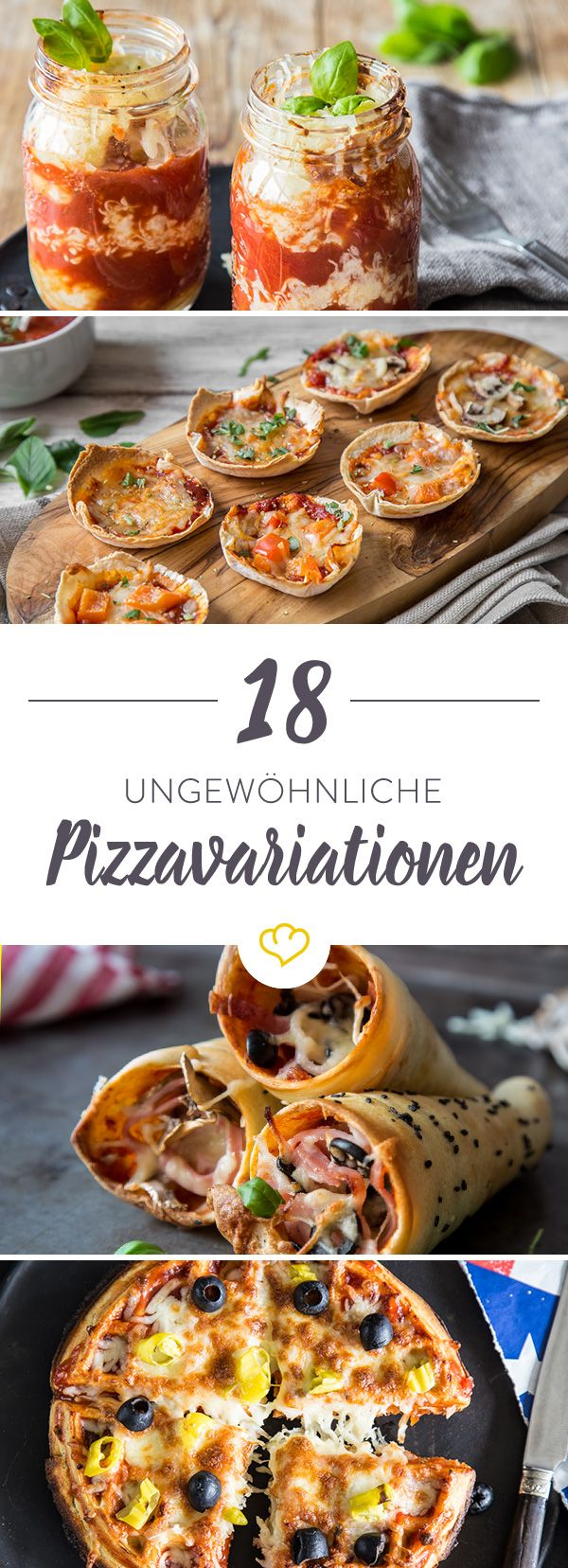 Wir haben 18 ausgefallene Pizzavariationen für dich zusammen gestellt, die eigentlich gar keine Pizza sind, aber trotzdem unglaublich gut danach schmecken!
