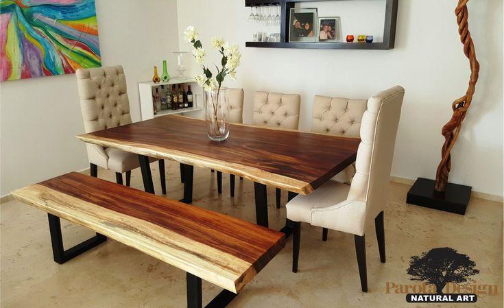 M s de 25 ideas incre bles sobre mesas de parota en pinterest muebles de parota parota madera - Comedor con banca ...