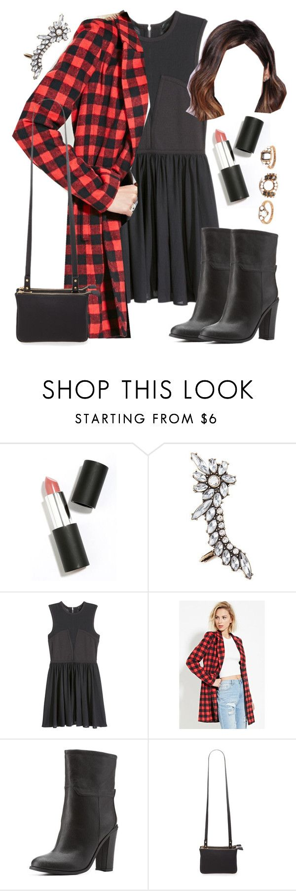 """""""Aria Montgomery inspired dinner party outfit"""" by liarsstyle ❤ liked on Polyvore featuring Sigma Beauty, Forever 21, H&M, Charlotte Russe, party, Dinner and WF"""