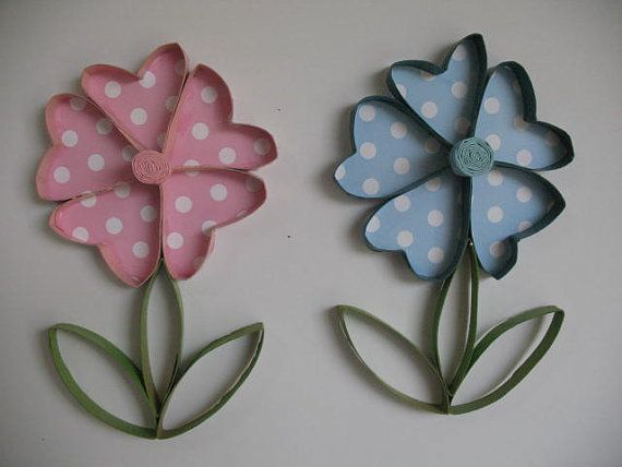 2 Wall Flower Art Upcycled Toilet Paper Rolls Upcycle