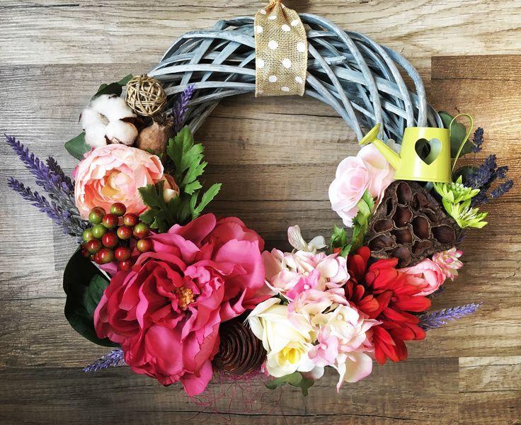 Květinový maxi věnec/ Floral door wreath