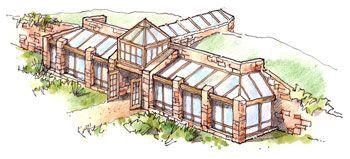 production green house near Calgary, Canada in collaboration w/ Madeen Interior Design - passive solar house ; eco home