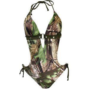 Real Tree camo swimsuits 2013... I wish I could pull this style off!