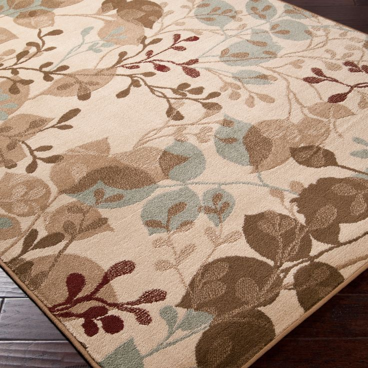 Beautify Your Floors With This Elegant Beige Area Rug. Featuring An  Abstract Floral Print That