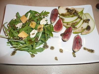 Sałatka z gruszkami i figami