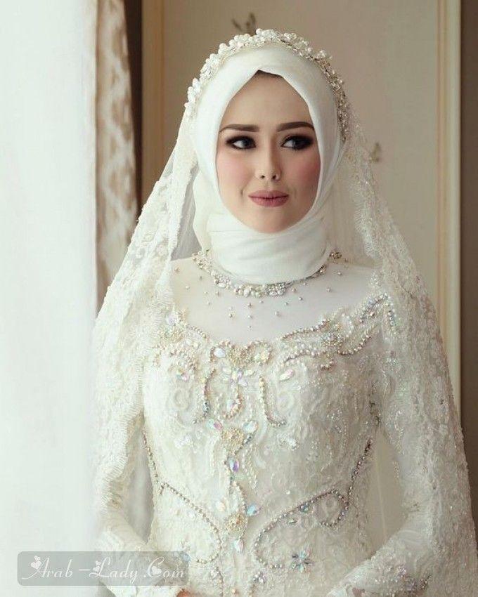 أجمل فساتين الزفاف للمحجبات Gaun Pengantin Muslim Pengantin Wanita Pengantin Berhijab