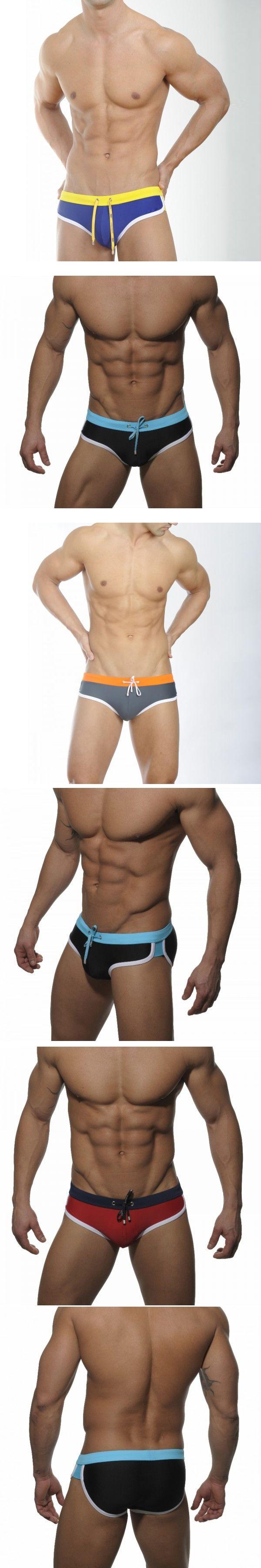 Seobean Men Swimwear Shorts Spandex Elastic Force Swim Brief Sexy Summer Beach Swimsuit Male Swimming Trunks Underwear Pants Hot