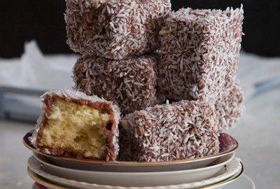 Prajitura lamington, sau prajitura tavalita prin cocos - delicioasa!