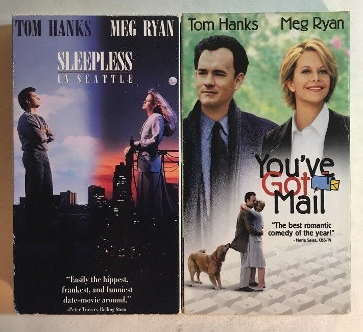 Sleepless in Seattle, You've Got Mail - Tom Hanks, Meg Ryan VHS Movies