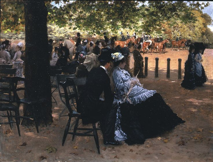 Flirtation, Hyde Park (Accanto alla pista), 1874 Giuseppe DeNittis