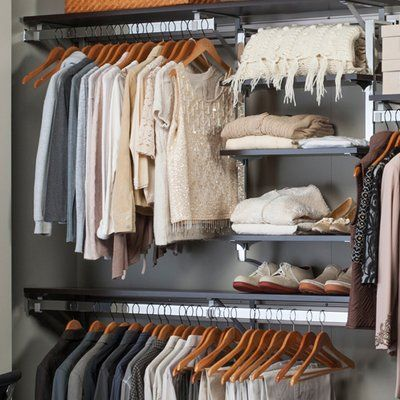 Orginnovations Inc Arrange A Space Best 32 W 80 W Closet System With Adjustable Shelves Finish E Closet Organizing Systems Closet System Adjustable Shelving