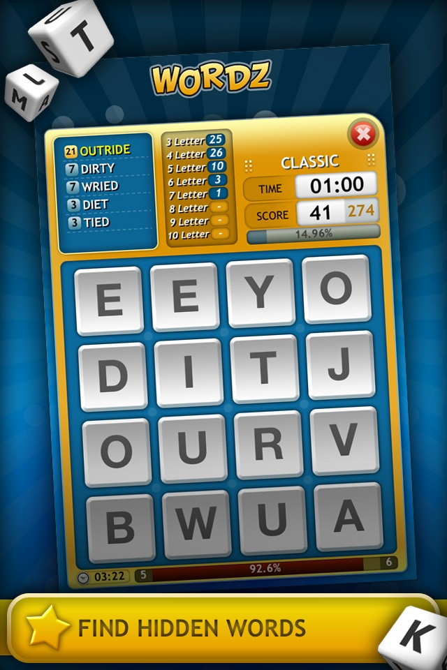 Wordz +: Online Multiplayer Word Game « FreeOnAppStore  Are you confident with your English skills?  Prepare to be challenged with our addictive game - WORDZ!