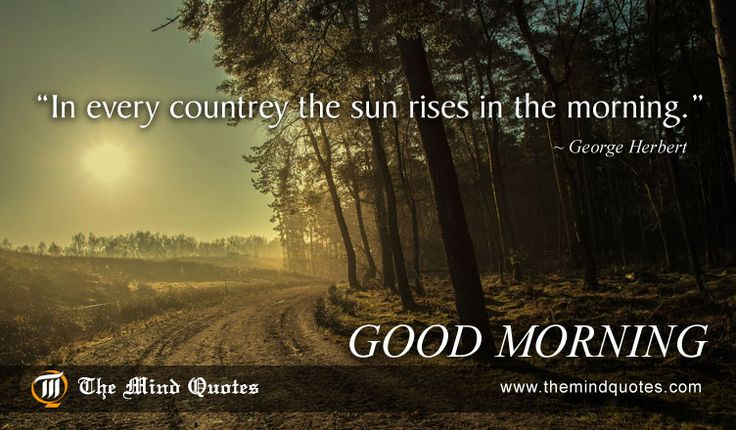 """themindquotes.com : George Herbert Quotes on Morning and Nature""""In every countrey the sun rises in the morning."""" ~ George Herbert"""