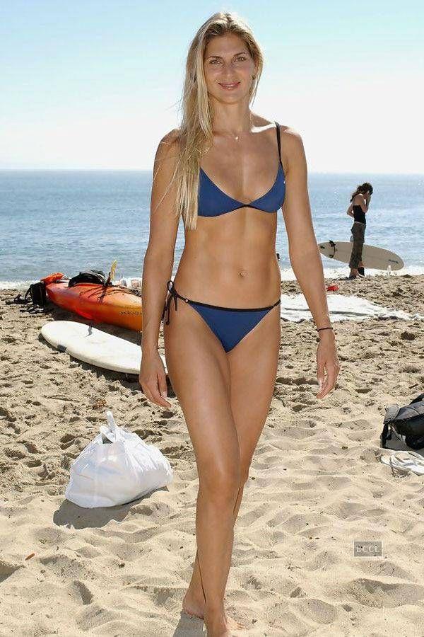 Tall woman in bikini