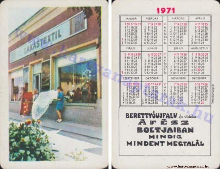 1971 - 1971_0564 - Régi magyar kártyanaptárak