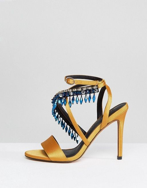 db5a30625b0f DESIGN Hydro Embellished Heeled Sandals in 2018