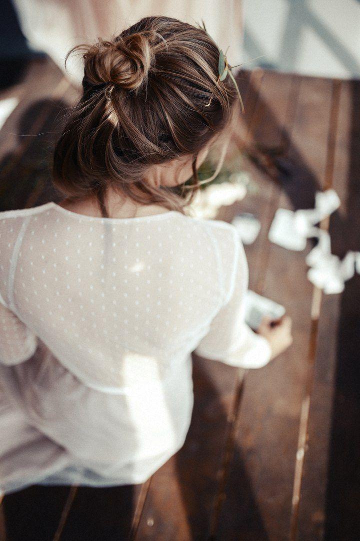 Будуарное платье невесты в Loft Wedding