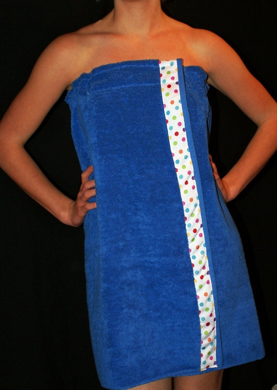 Blue Spa Wrap for Wedding Party Bride and by TheFlowerFairyShop, $27.00