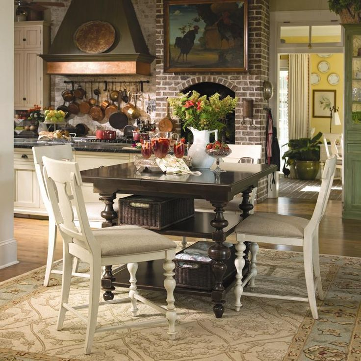Counter Height Gathering Table With Storage : Paula Deen Home Counter Height Kitchen Gathering Table with Storage ...