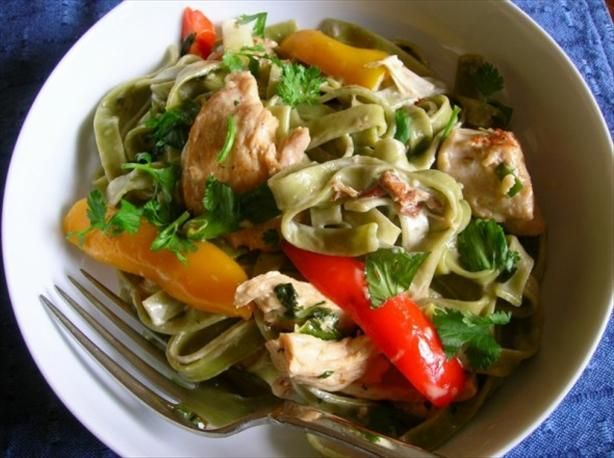"Chicken Tequila Fettuccine: ""This was really good! It is relatively simple to make and the flavors are great."" -Malriah"