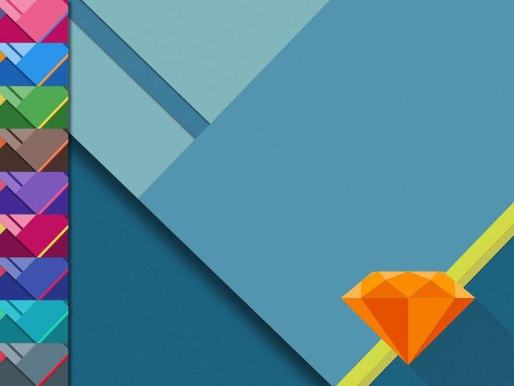 Material Design Wallpaper [Free .Sketch Template]