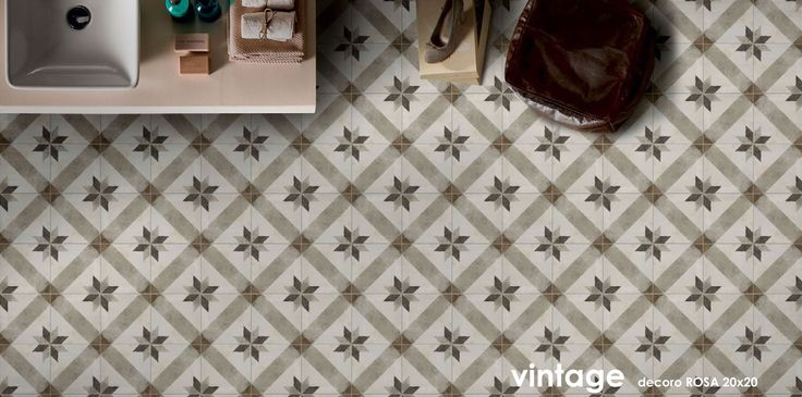 cementtegels imitatie VINTAGE DECORO ROSA 20X20X0,75 | Ceramico