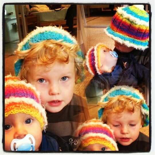 Have you ever?! How cute are these littlies in their rainbow-coloured and fluff accent kiddie and baby beanies?! To order email info@sgtcreations.co.za.  Great gift for Winter ☺