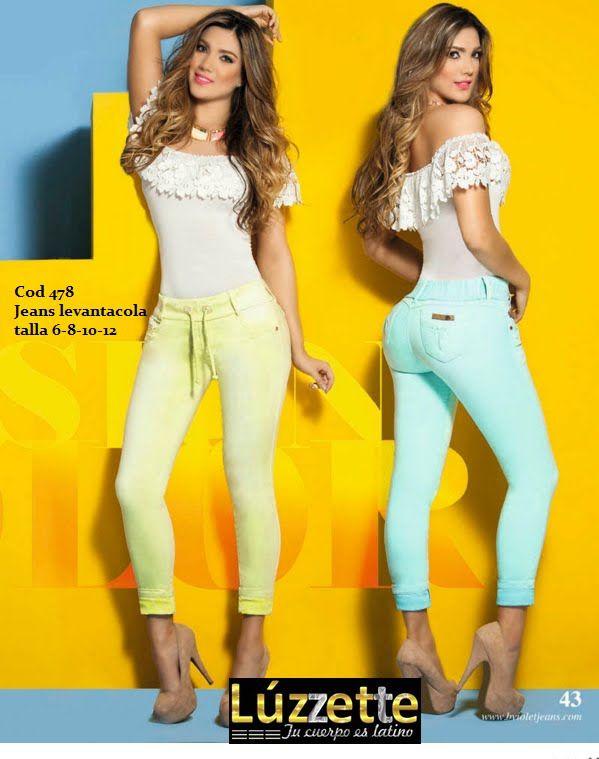 Luzzette jeans levantacola  Bviolet colección 1 del 2016