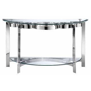 elk lighting mercury demilune sofa table silver sofa tables rh pinterest com