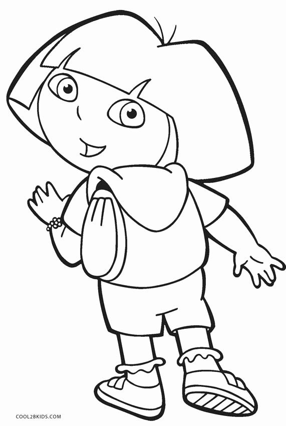Dora The Explorer Coloring Page Beautiful Free Printable Dora Coloring Pages For Kids Halloween Coloring Pages Thanksgiving Coloring Pages Dora Coloring