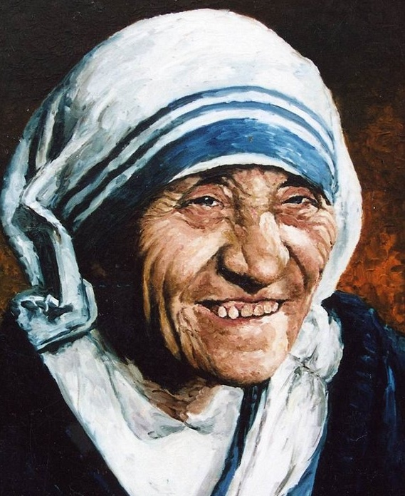painting, mother teresa