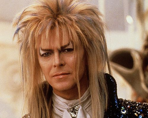 Jareth, the Goblin King from the movie 'Labyrinth' played by David Bowie. We named our first born son after Jareth.