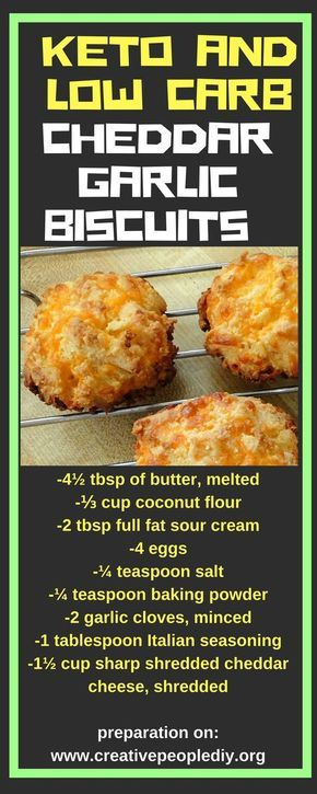 MAKE THIS DELICIOUS KETO AND LOW CARB CHEDDAR GARLIC BISCUITS !!!