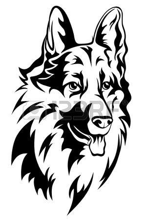 ilustraci n vectorial cabeza de perro Foto de archivo