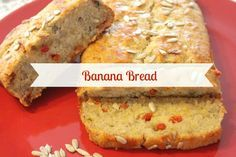 Banana Bread Vegan: un pane alla banana leggero, senza burro, latte o uova! Perfetto per la colazione. Arricchito con bacche di goji e semi di girasole :) - Banana bread with super seeds and goji berries. Perfect and super!