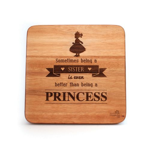 """""""Sometimes being a sister is even better than being a princess."""" This wall art will make a great addition to any sister's room. It's such a special message."""