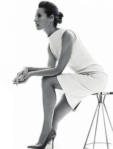 Minimal + Classic: Christy Turlington Harper's All white dress                                                                                                                                                                                 More