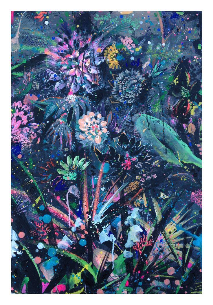 #flowers, #paintingflower, #foliage, #roses, #darknight
